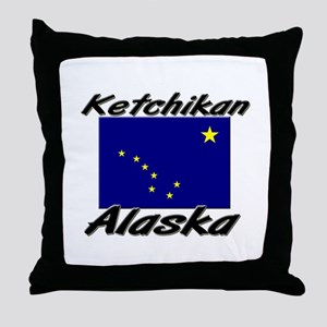 Ketchikan Alaska Throw Pillow
