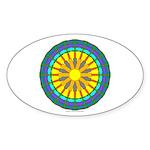 Sun Web Oval Sticker