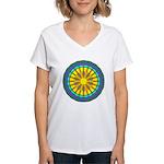 Sun Web Women's V-Neck T-Shirt