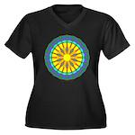 Sun Web Women's Plus Size V-Neck Dark T-Shirt