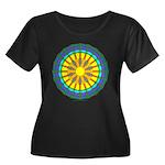 Sun Web Women's Plus Size Scoop Neck Dark T-Shirt