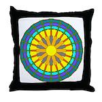Sun Web Throw Pillow