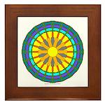 Sun Web Framed Tile