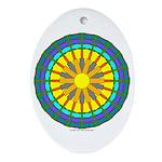 Sun Web Oval Ornament