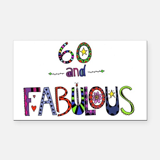 Cute 60th birthday Rectangle Car Magnet