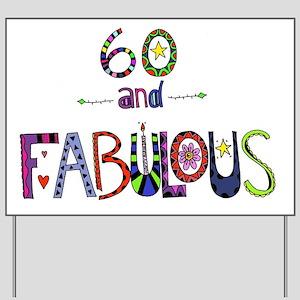 happy 60th birthday yard signs cafepress