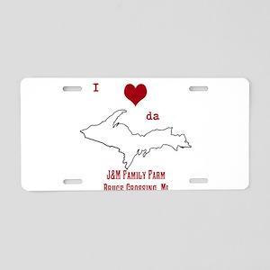 Yooper Love Aluminum License Plate