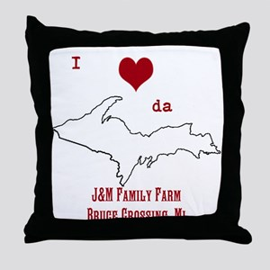 Yooper Love Throw Pillow