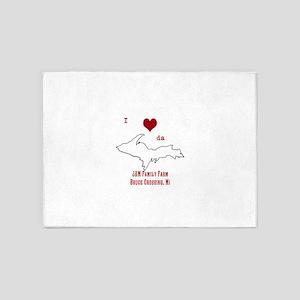 Yooper Love 5'x7'Area Rug