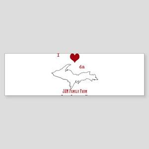 Yooper Love Bumper Sticker