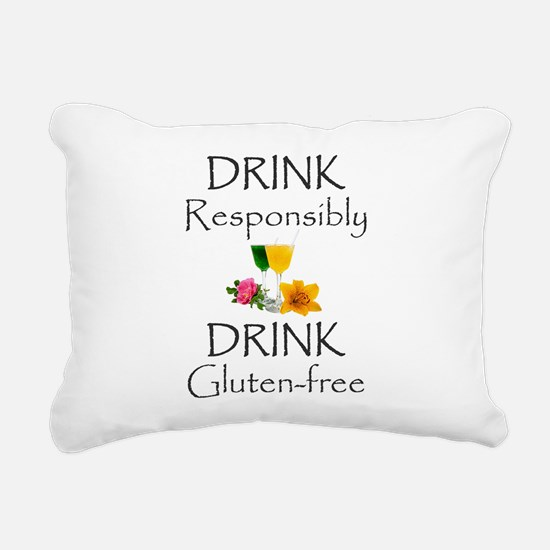 Drink Responsibly Rectangular Canvas Pillow