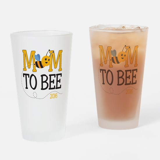 Mom to Bee Drinking Glass