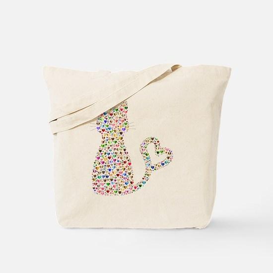 Pattern Cat Tote Bag