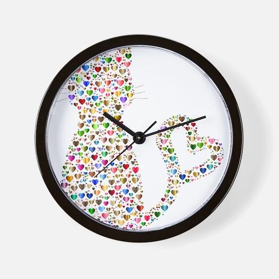Pattern Cat Wall Clock