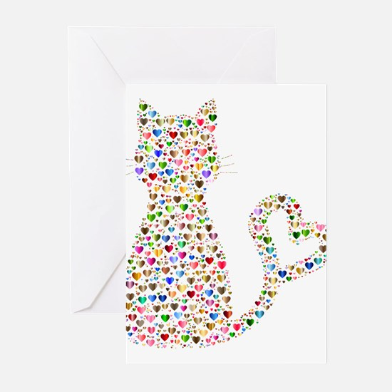 Pattern Cat Greeting Cards
