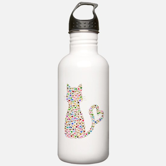 Pattern Cat Water Bottle