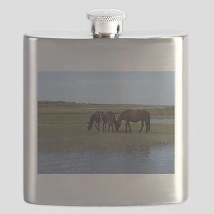 Shackleford Ponies Flask