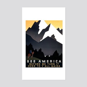 See America Before We Turn It Sticker (Rectangle)