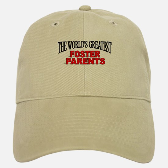 """The World's Greatest Foster Parents"" Baseball Baseball Cap"