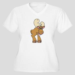 Moose Women's Plus Size V-Neck T-Shirt