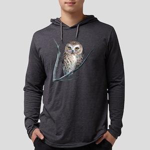 saw-whet owl dark shirt Long Sleeve T-Shirt