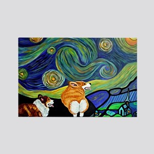 Corgi Starry Starry Night Magnets