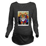 Animals Dark Long Sleeve Maternity T-Shirt