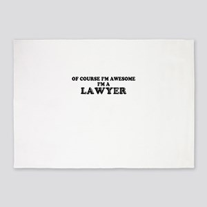 Of course I'm Awesome, Im LAWYER 5'x7'Area Rug