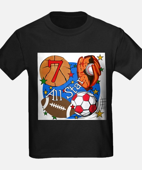 Sports 7th Birthday T-Shirt