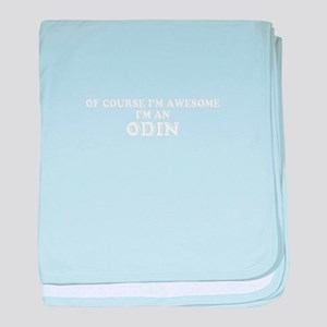 Of course I'm Awesome, Im ODIN baby blanket