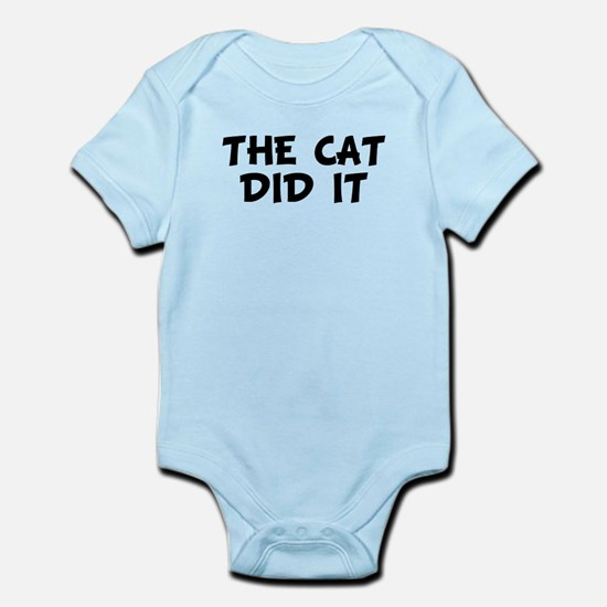 The Cat Did It Body Suit