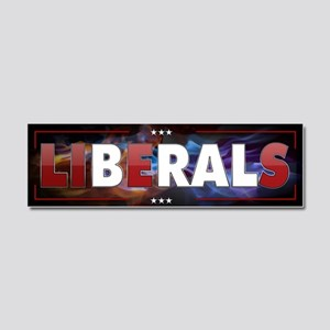 Liberals Lie Car Magnet 10 x 3