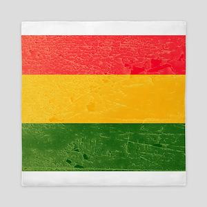 Distressed Bolivia Flag graphic Queen Duvet