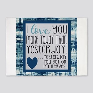 I love you more 5'x7'Area Rug
