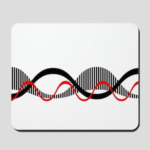 Sound Waves Motif Mousepad