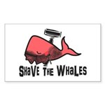 Shave The Whales Sticker