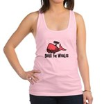 Shave The Whales Racerback Tank Top