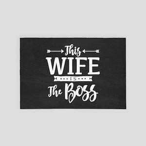 Wife Is Boss 4' x 6' Rug