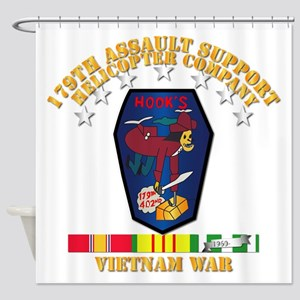 179th ASH Co - VN War SVC Ribbons Shower Curtain