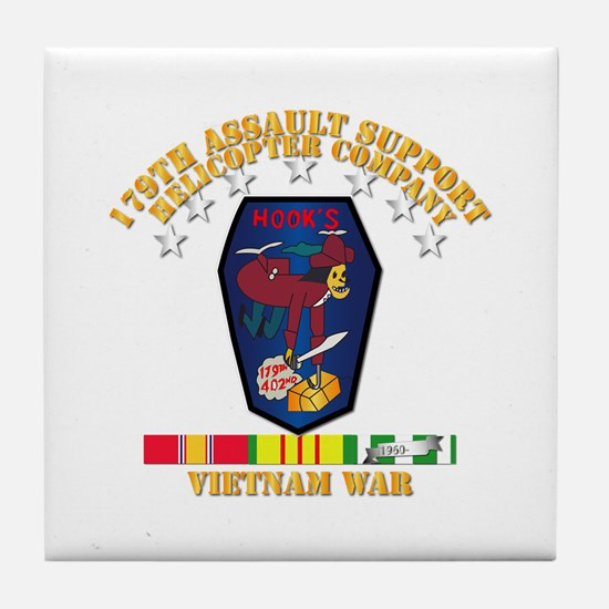 179th ASH Co - VN War SVC Ribbons Tile Coaster