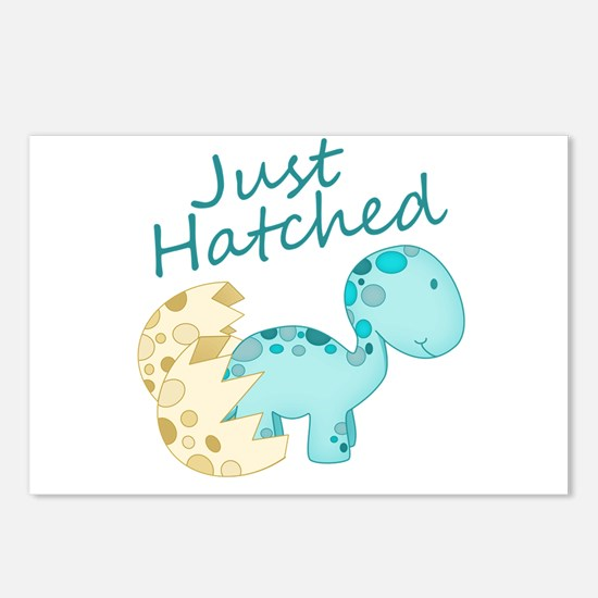 Just Hatched Blue Baby Di Postcards (Package of 8)