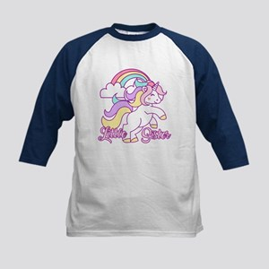 Little Sister Unicorn Kids Baseball Jersey