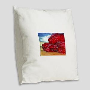 Bat out of Sheol Burlap Throw Pillow