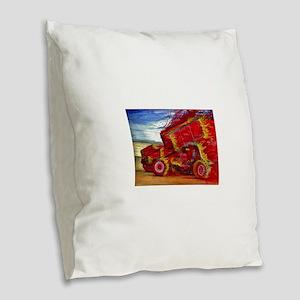 Bat out of Hadees Burlap Throw Pillow
