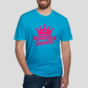 Burpees queen Men's Fitted T-Shirt (dark)
