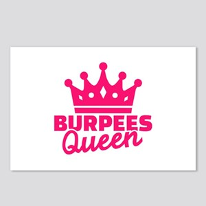 Burpees queen Postcards (Package of 8)