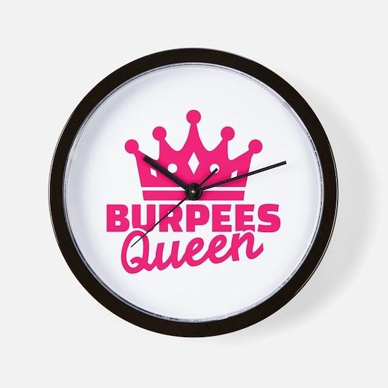 Burpees queen Wall Clock