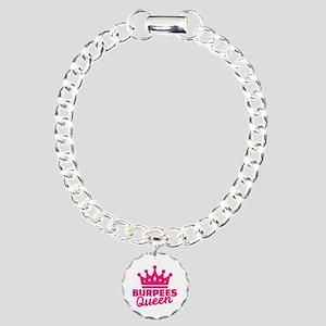 Burpees queen Charm Bracelet, One Charm