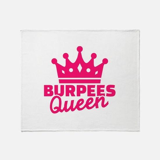 Burpees queen Throw Blanket