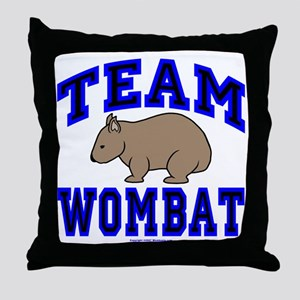 Team Wombat IV Throw Pillow